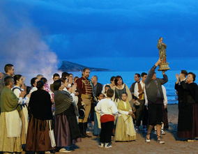 275 anniversary of the arrival of the virgin of the suffrage to Benidorm