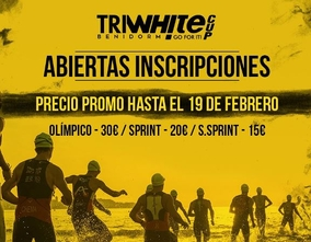 The VIIth edition of the  TriWhite triathlon takes places this Sunday in Benidorm .