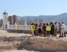 Visit the works of the Castle and discover the History of Benidorm