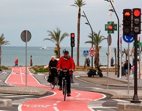 Benidorm plans to reach 134 kilometres of cycle lanes by the end of the year